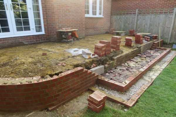 Garda Construction Patio In Purley With Sweeping Steps